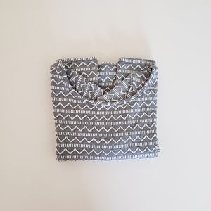 Xhilaration Dress - Grey / White Print